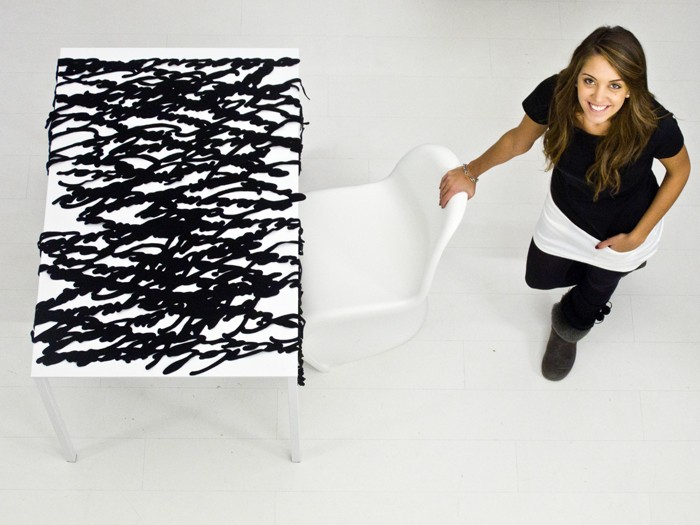 Speech | conversational tablecloth by Camilla Fucili